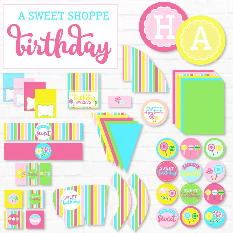 Candyland Printable Birthday Party