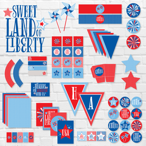 Sweet Land of Liberty:: 4th of July Printable Party