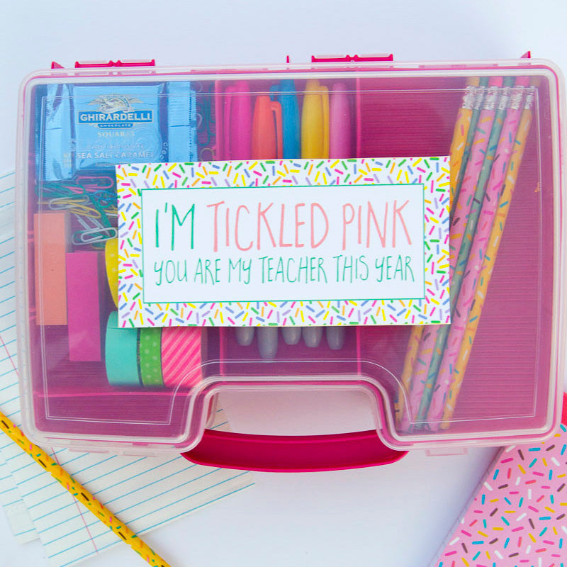 Tickled Pink Teacher Gift Tag