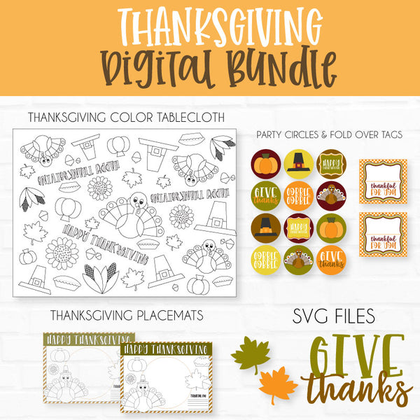 Thanksgiving Printable & SVG Digital Bundle