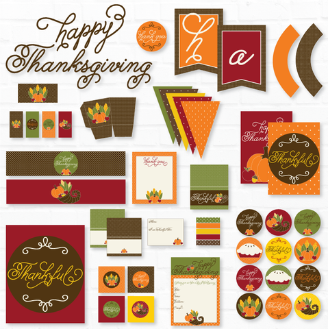 Happy Thanksgiving Printable Party