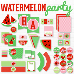 Red Watermelon Printable Party
