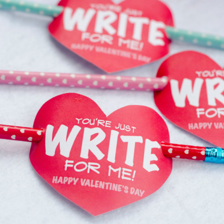 Just Write For Me Valentine Tag Printable