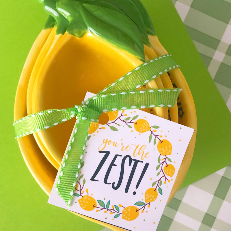 You're The Zest Gift Tag