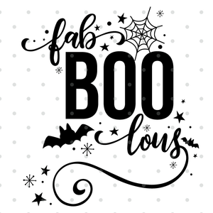 FaBOOlous Halloween Saying SVG CUT FILE!