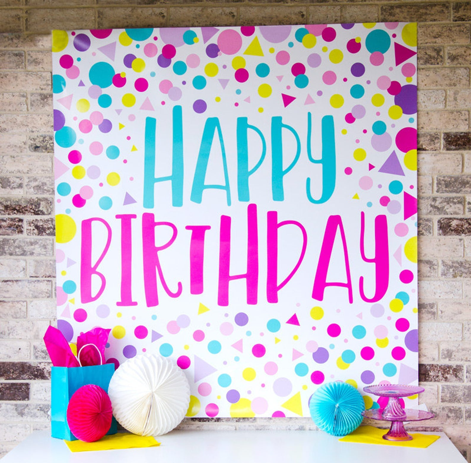 Happy Birthday Backdrop Printable