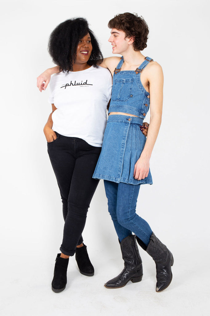 We are a gender-free brand (androgynous, unisex, gender neutral) selling clothing, accessories, and beauty for the LGBTQIA+ community (lesbian, gay, trans, pansexual queer)