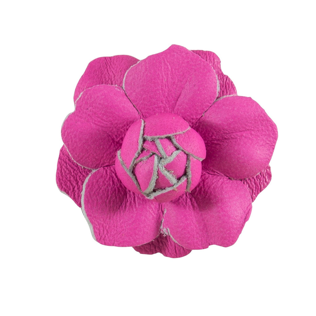 Fleur'd: Neon Pink Mini Leather Gardenia Pin