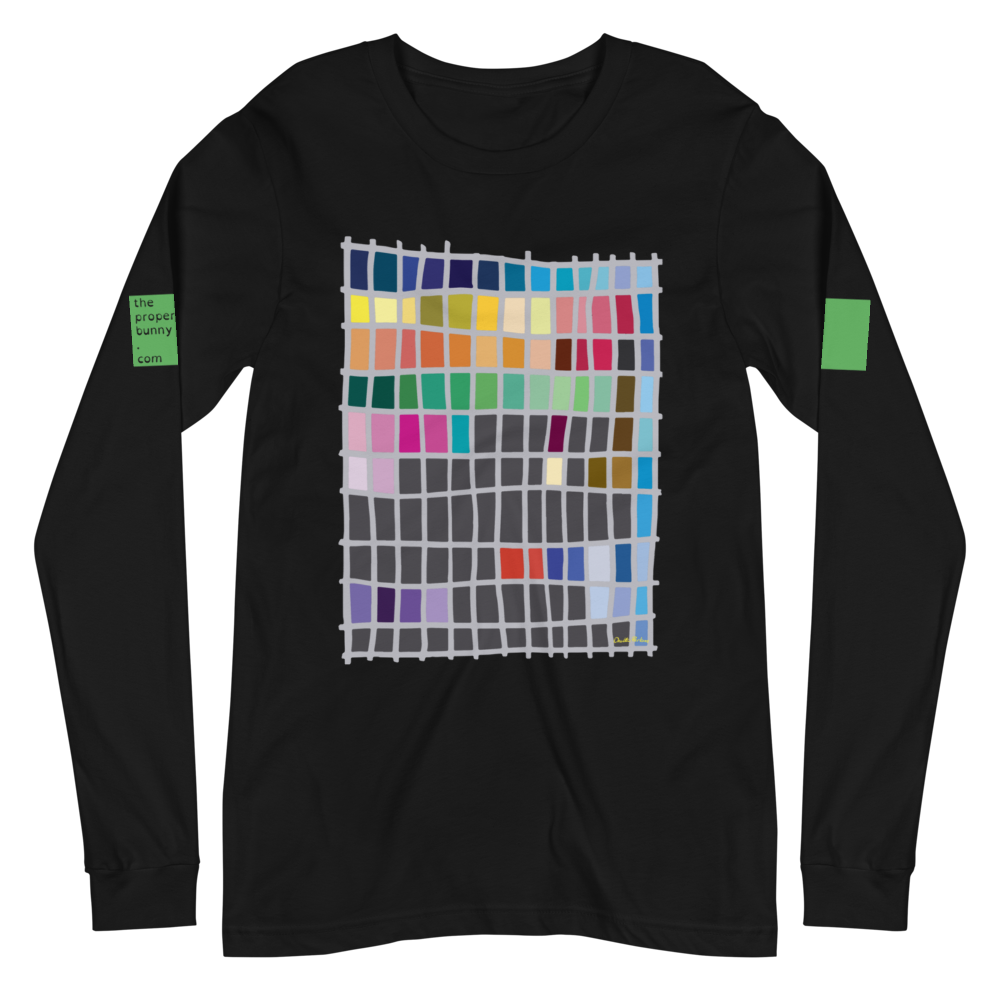 The Proper Bunny: The Proper Bunny Chart Long Sleeve Graphic Tee
