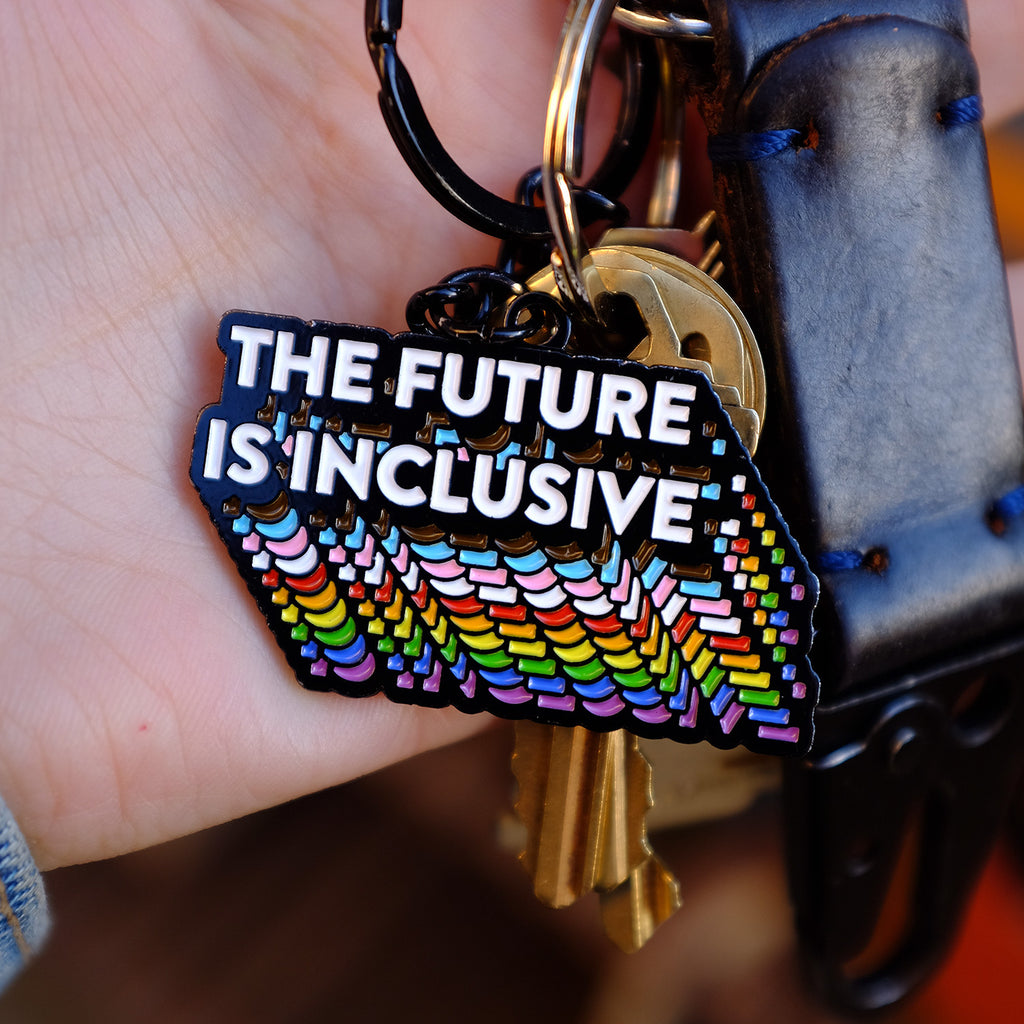 Bianca Designs: The Future is Inclusive Rainbow Keychain