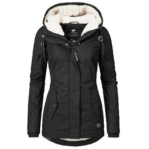 Winter Warm Thicken Basic Casual Hooded Jacket