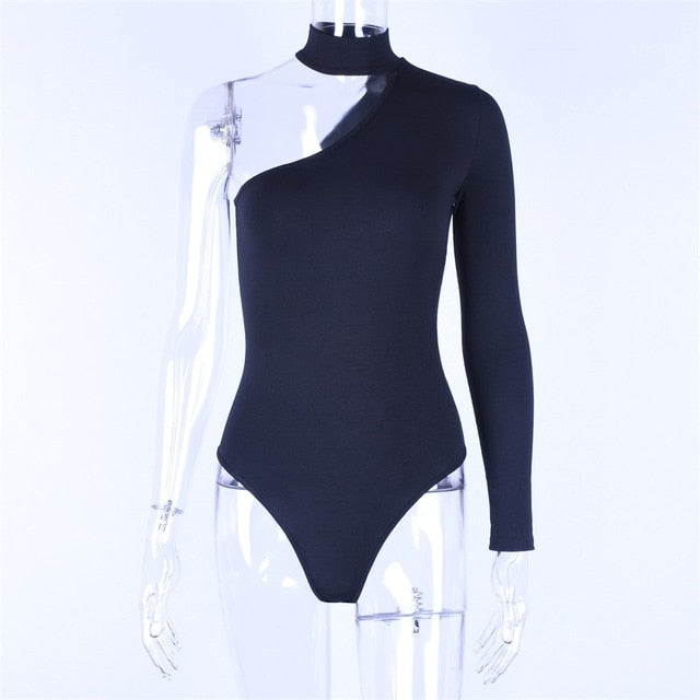 Sexy Off One Shoulder Long Sleeve Bodysuit