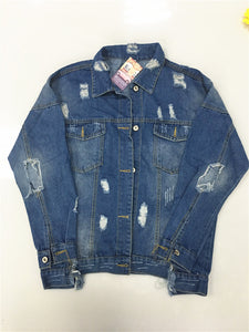 Vintage Fabric Patchwork Denim Jacket