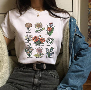 Lovely Botanic Flowers Graphic Tees