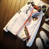 Hooded White Floral Jackets