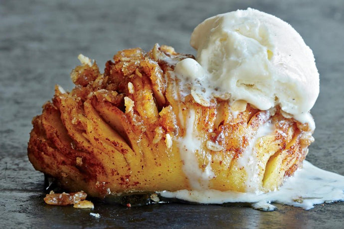 Maple Hasselback Apple