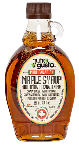 100% Canadian Pure Maple Syrup NutroGusto