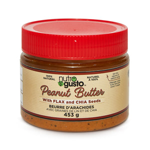 NutroGusto Peanut Butter with Flax and Chia 453g