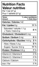 Load image into Gallery viewer, Sesame Bars 27g Nutritional Info