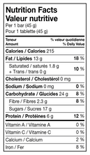 Load image into Gallery viewer, Sesame bar 46g Nutritional Info
