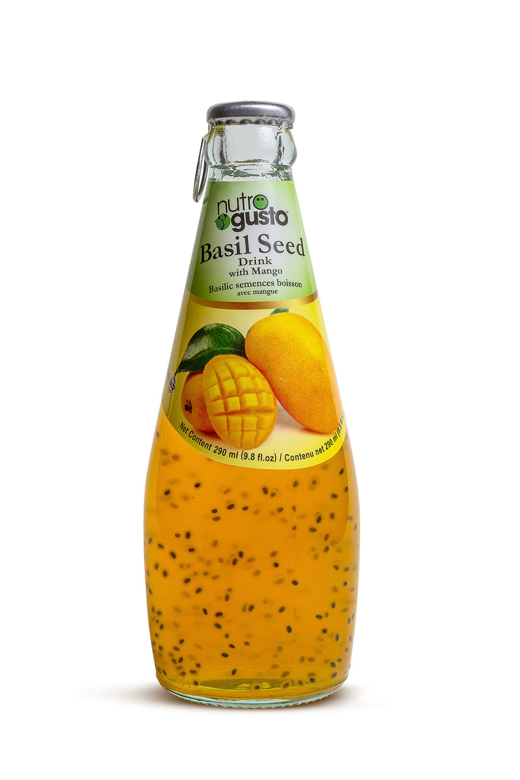 NutroGusto Basil Seed Drink with Mango 290ml