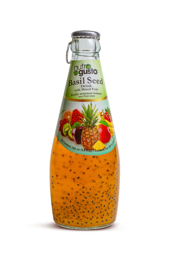 NutroGusto Basil Seed Drink with Mixed Fruit 290ml