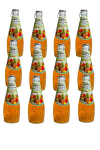 NutroGusto Basil Seed Drink with Mixed Fruit 290ml - 12 pack