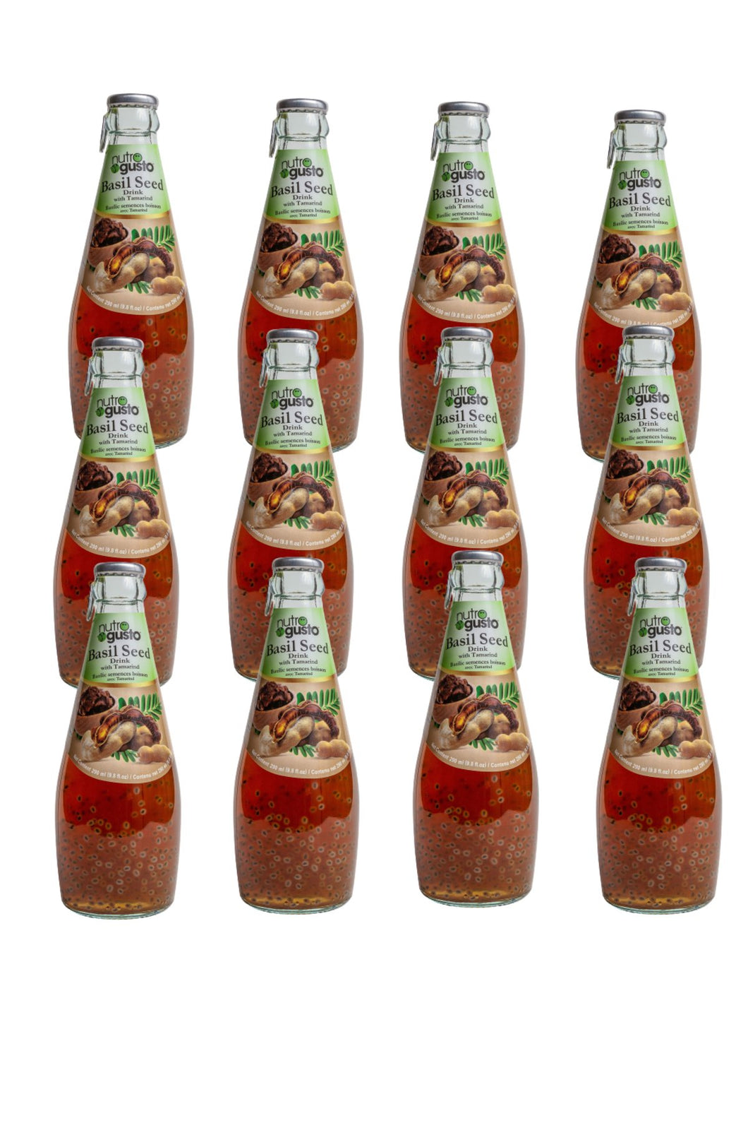 NutroGusto Basil Seed Drink with Tamarind 290ml - 12 pack