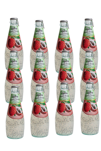 NutroGusto Basil Seed Drink with Lychee 290ml - 12 pack