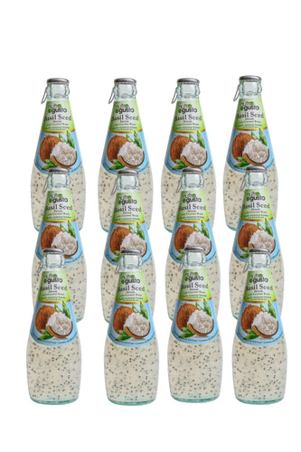 NutroGusto Basil Seed Drink with Coconut 290ml-12 Pack
