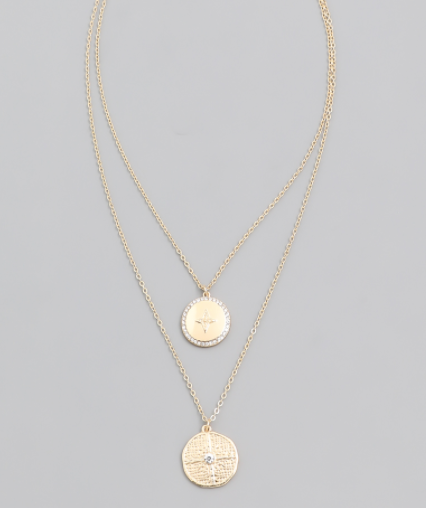 Kinz Coin Layered Necklace