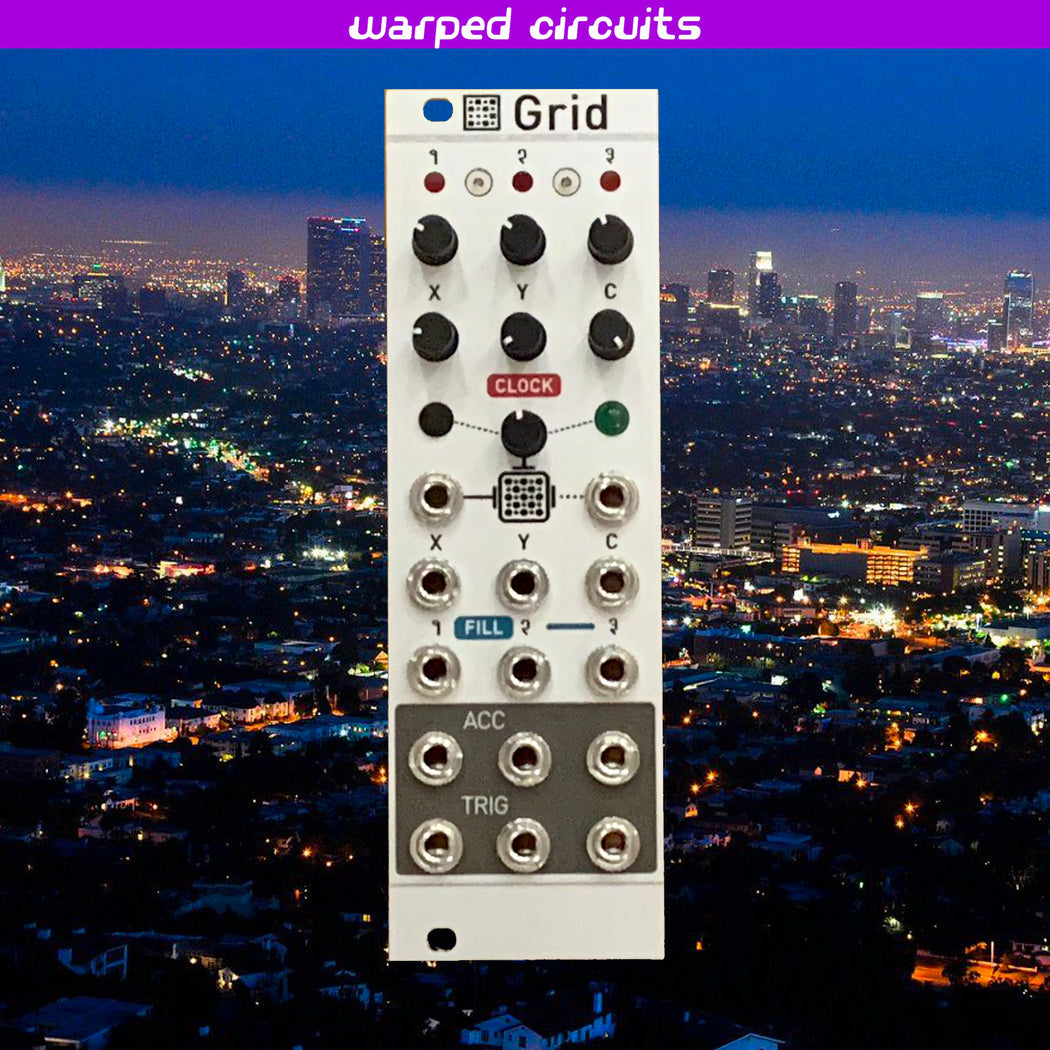Antumbra GRID (Mutable Instruments mini Grids uGrids) with Natural Aluminum Panel