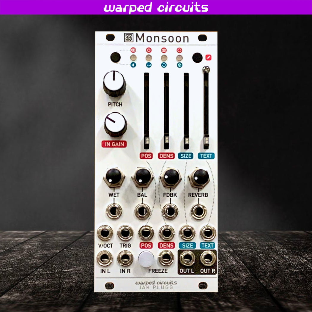 Monsoon (12hp Mutable Instruments Clouds) Expanded uBurst