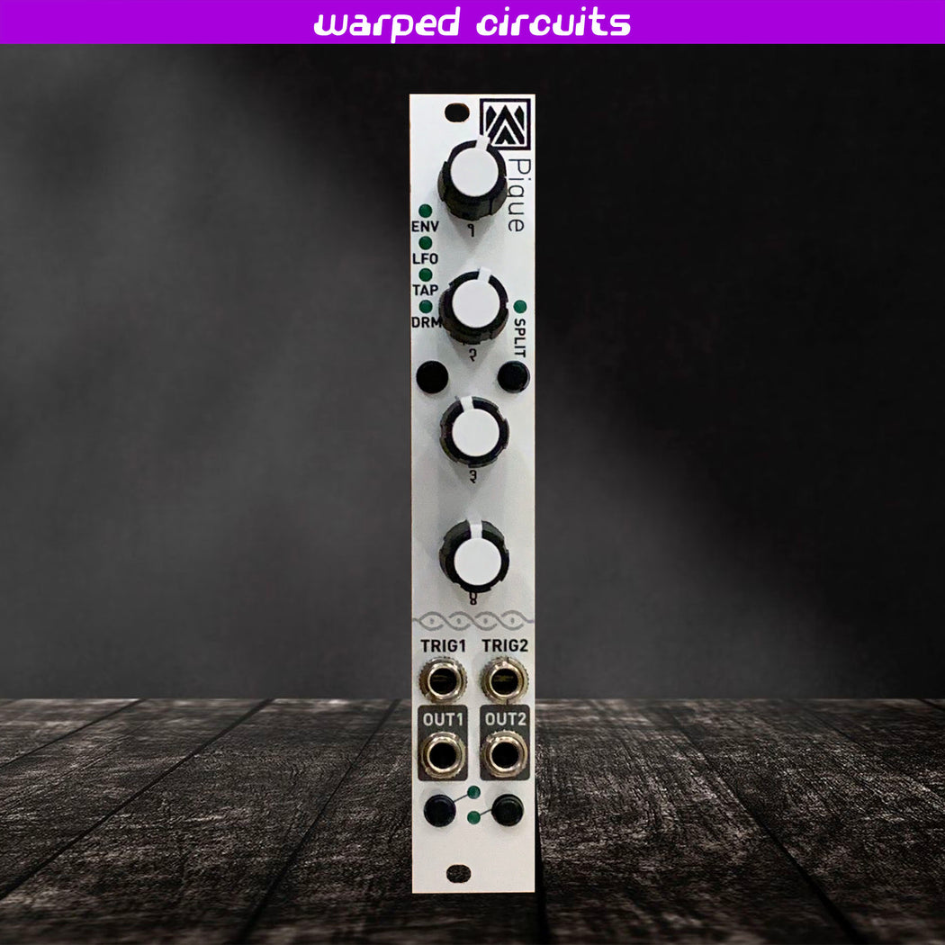Pique 1.1 (Micro Mutable Instruments Peaks with expander port) Rogan Knobs Edition uPeaks