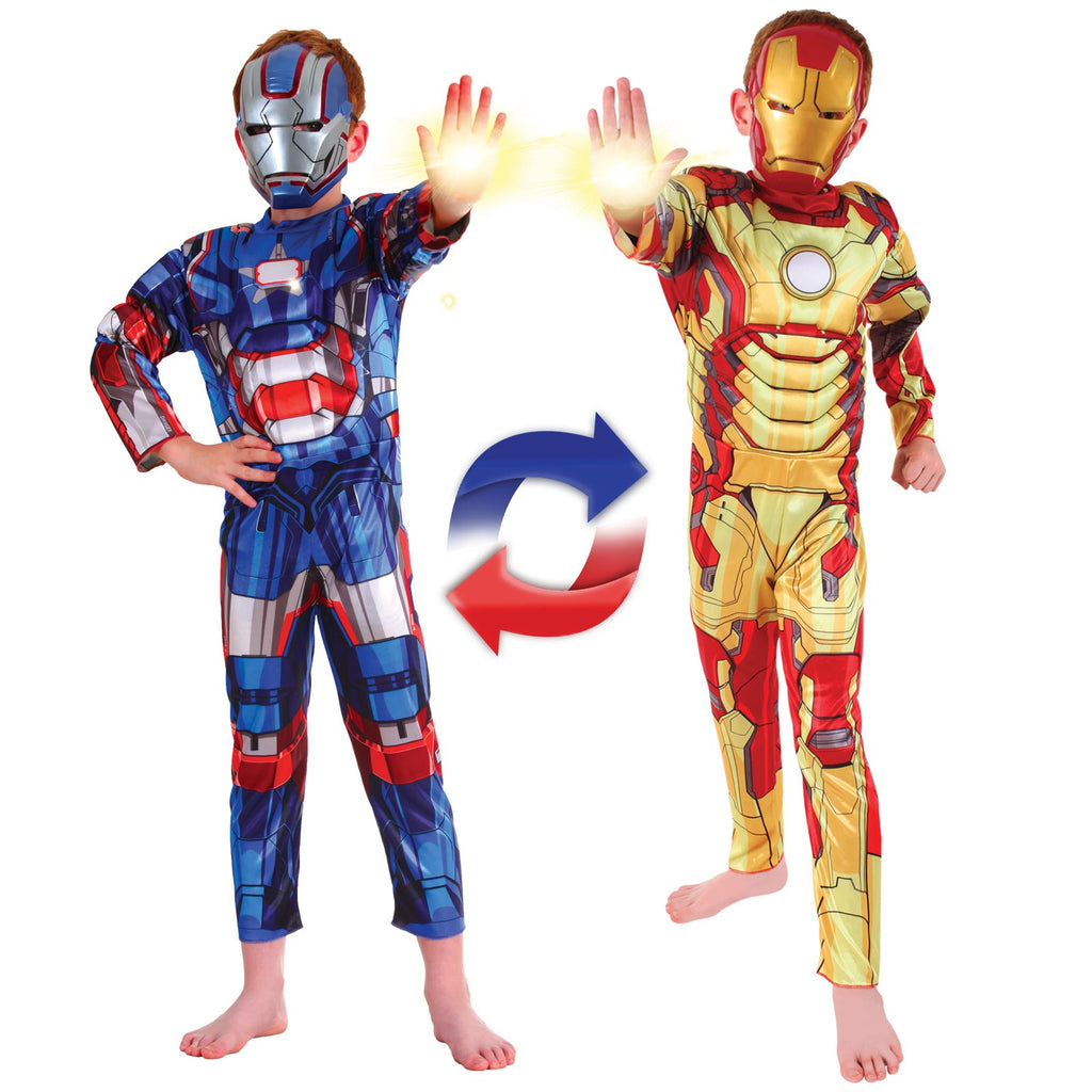 Ironman To Iron Patriot Reversible Costume, Child