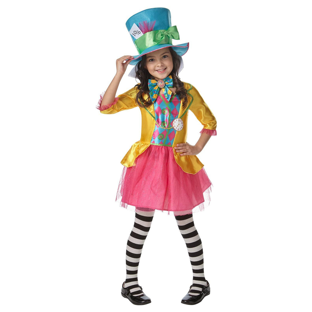 Mad Hatter Girls Deluxe Costume (long Hanging), Child