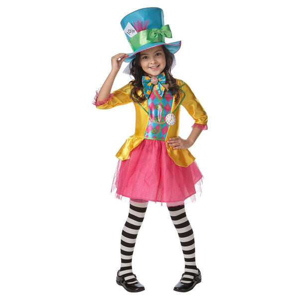 Mad Hatter Girls Deluxe Costume (large Polybag), Child