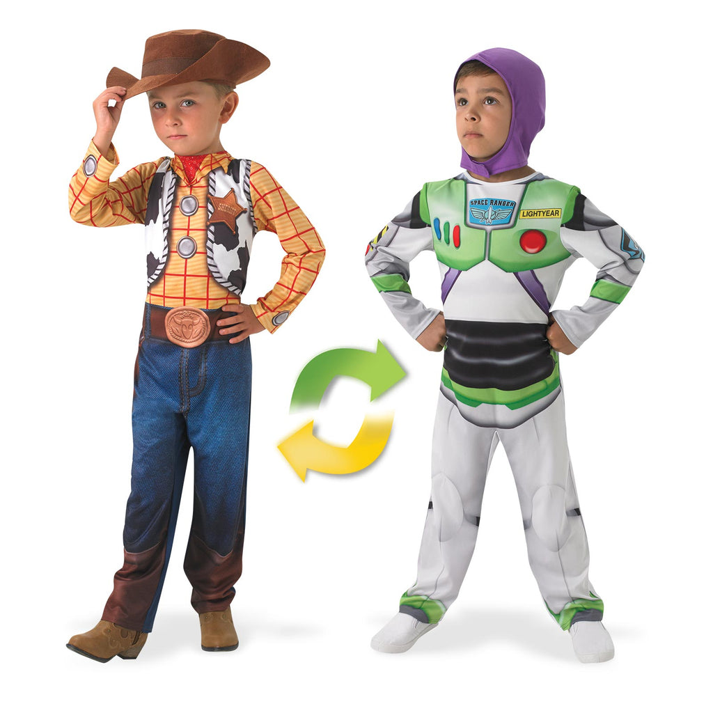 Woody To Buzz Lightyear Deluxe Reversible, Child