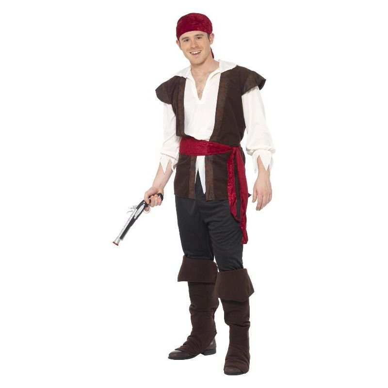 Pirate Costume Adult Brown/white