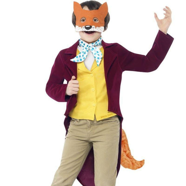 Roald Dahl Fantastic Mr Fox Costume - Medium Age 7-9 Boys Purple/Yellow/Green