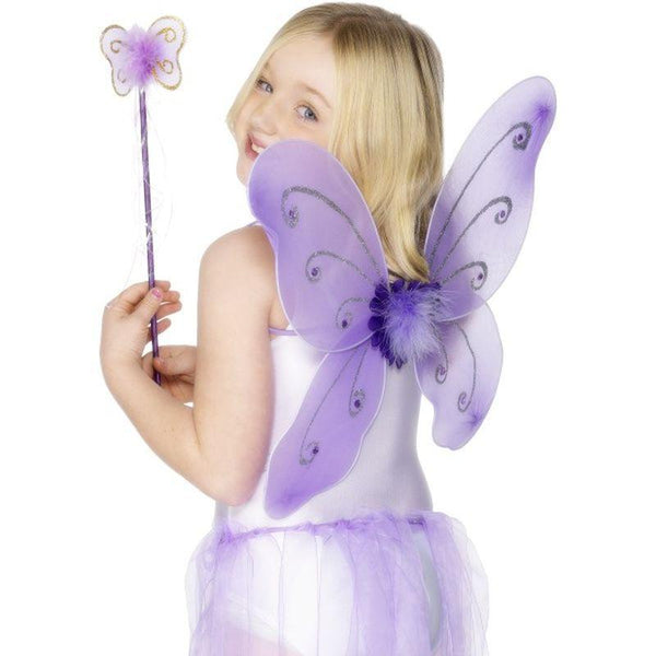 Purple Butterfly Wings - One Size