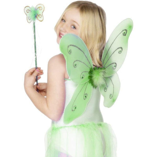 Green Butterfly Wings - One Size