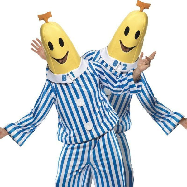 Bananas in Pyjamas Costume - Medium Mens Blue/White/Yellow