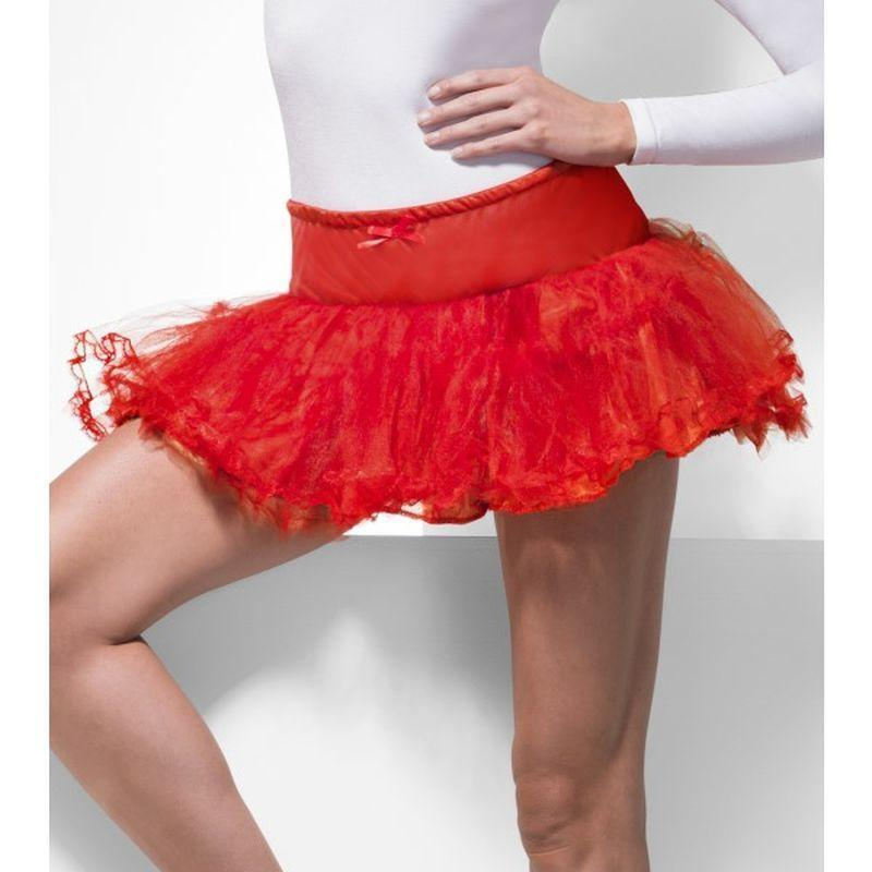 Tulle Petticoat - One Size Womens Red