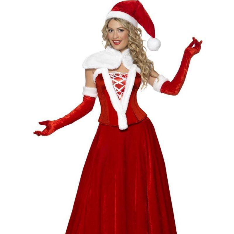 FANCY DRESS COSTUME # PIRATE LADY RED WHITE SM 8-10