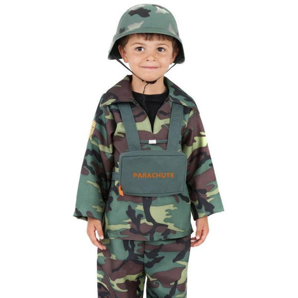 Army Boy Costume - Small Age 4-6 Boys Camo