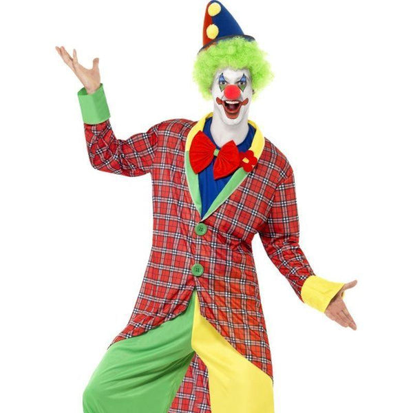 La Circus Deluxe Clown Costume - XL Mens Red/Green/Yellow