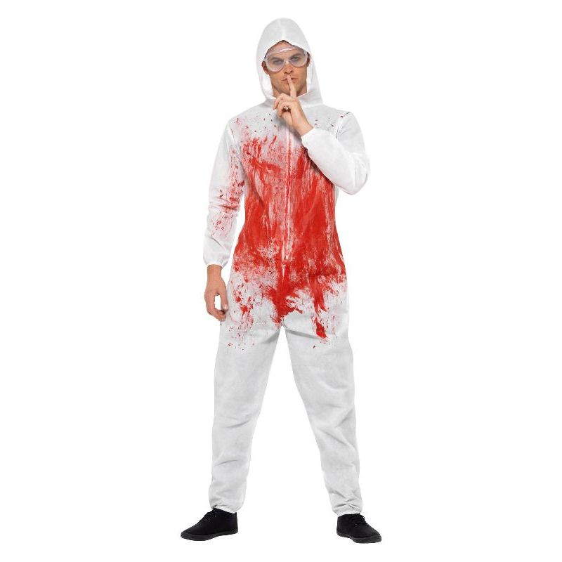 Bloody Forensic Overall Costume Adult Red