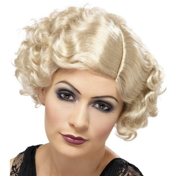20s Flirty Flapper Wig - One Size Womens Blonde
