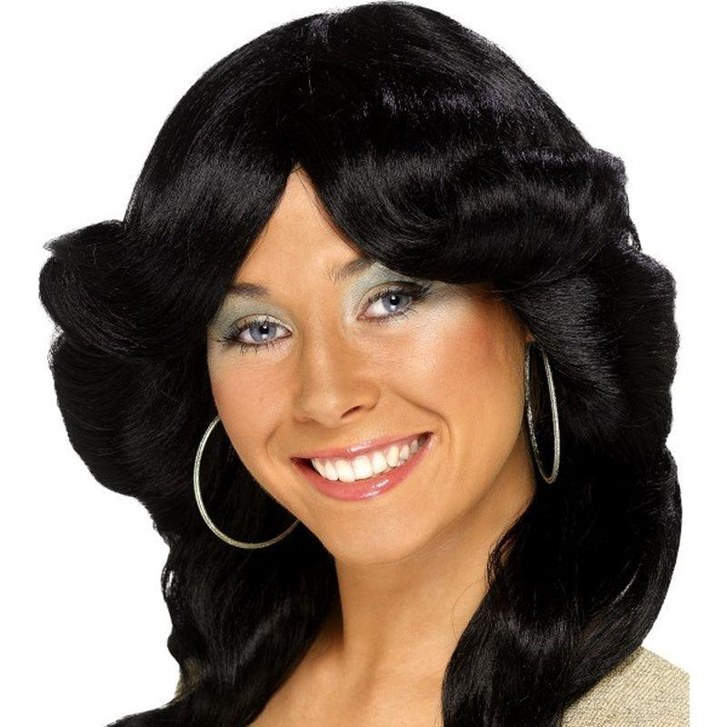 70s Flick Wig, - One Size Womens Black
